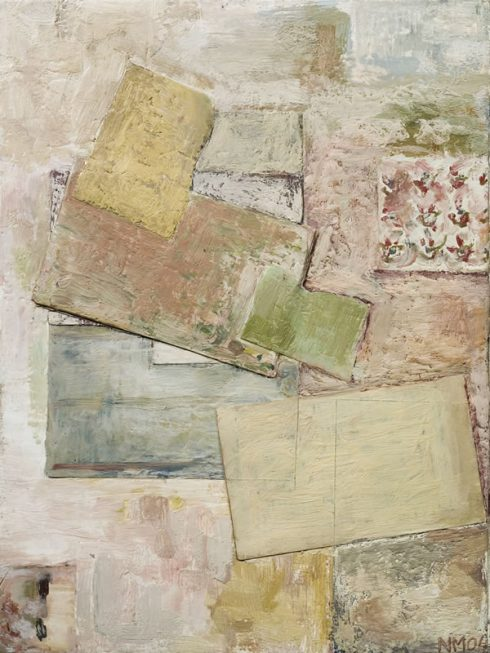 """Considerations 12 X 16"""" Encaustic Collage And Paint On Canvas 2006"""