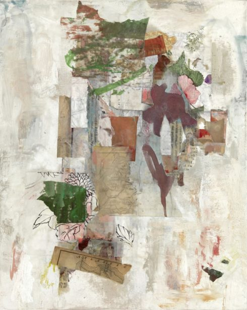 """Fragment Atlantic 16 X 12"""" Encaustic Collage And Paint On Canvas 2008"""