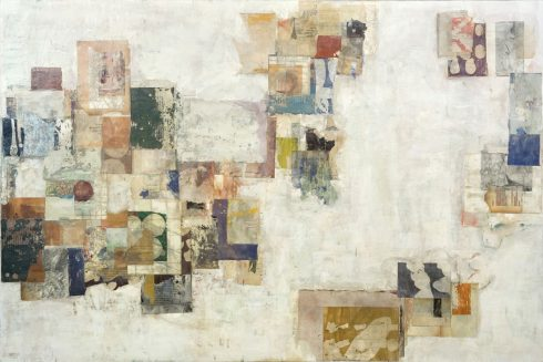 """Intimations 32 X 48"""" Encaustic Collage And Paint On Canvas 2006"""