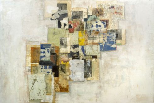 """Recollections 32 X 48"""" Encaustic Collage And Paint On Canvas 2007"""