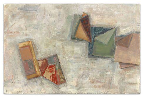 "Secret Notes 16 X 24"" Encaustic Collage And Paint On Canvas 2006"