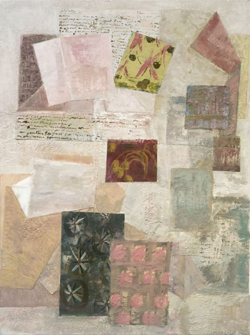 """Sense Of Place 32 X 24"""" Encaustic Collage And Paint On Canvas 2006"""